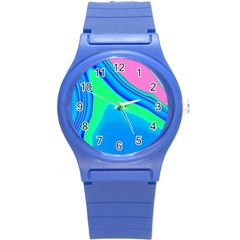 Aurora Color Rainbow Space Blue Sky Round Plastic Sport Watch (s) by Mariart