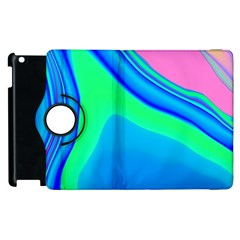 Aurora Color Rainbow Space Blue Sky Apple Ipad 2 Flip 360 Case by Mariart