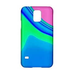 Aurora Color Rainbow Space Blue Sky Samsung Galaxy S5 Hardshell Case  by Mariart