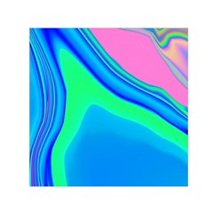 Aurora Color Rainbow Space Blue Sky Small Satin Scarf (square) by Mariart