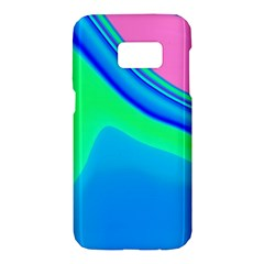 Aurora Color Rainbow Space Blue Sky Samsung Galaxy S7 Hardshell Case  by Mariart