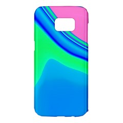 Aurora Color Rainbow Space Blue Sky Samsung Galaxy S7 Edge Hardshell Case by Mariart