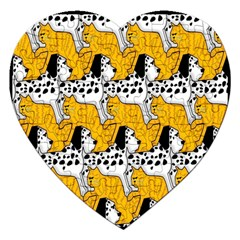 Animals Cat Dog Dalmation Jigsaw Puzzle (heart) by Mariart