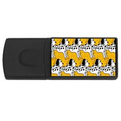 Animals Cat Dog Dalmation Usb Flash Drive Rectangular (4 Gb) by Mariart