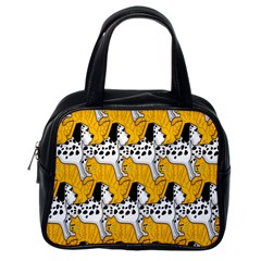 Animals Cat Dog Dalmation Classic Handbags (one Side) by Mariart