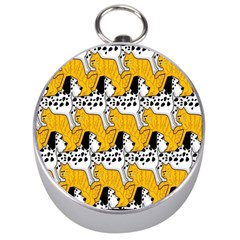 Animals Cat Dog Dalmation Silver Compasses by Mariart