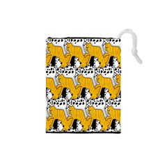 Animals Cat Dog Dalmation Drawstring Pouches (small)  by Mariart