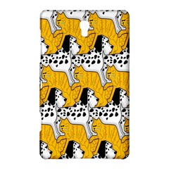 Animals Cat Dog Dalmation Samsung Galaxy Tab S (8 4 ) Hardshell Case  by Mariart
