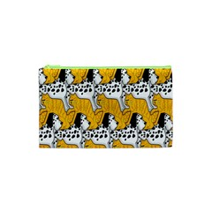 Animals Cat Dog Dalmation Cosmetic Bag (xs) by Mariart