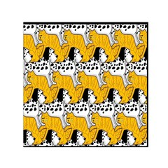 Animals Cat Dog Dalmation Small Satin Scarf (square) by Mariart