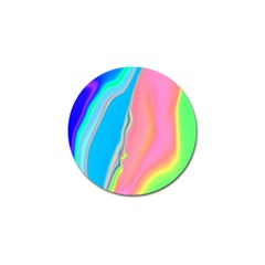 Aurora Color Rainbow Space Blue Sky Purple Yellow Green Pink Golf Ball Marker by Mariart
