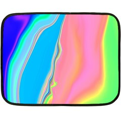 Aurora Color Rainbow Space Blue Sky Purple Yellow Green Pink Fleece Blanket (mini) by Mariart