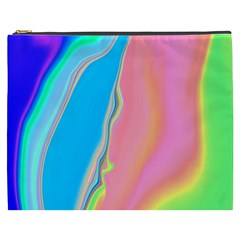 Aurora Color Rainbow Space Blue Sky Purple Yellow Green Pink Cosmetic Bag (xxxl)  by Mariart