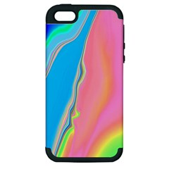 Aurora Color Rainbow Space Blue Sky Purple Yellow Green Pink Apple Iphone 5 Hardshell Case (pc+silicone) by Mariart