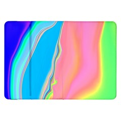 Aurora Color Rainbow Space Blue Sky Purple Yellow Green Pink Samsung Galaxy Tab 8 9  P7300 Flip Case by Mariart