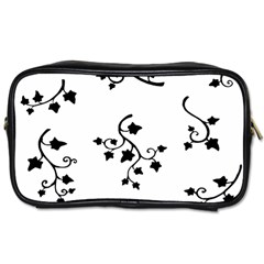 Black Leaf Tatto Toiletries Bags