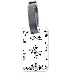 Black Leaf Tatto Luggage Tags (two Sides) by Mariart