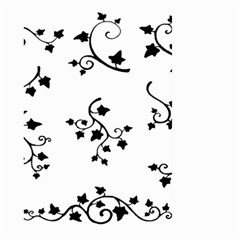Black Leaf Tatto Large Garden Flag (two Sides) by Mariart