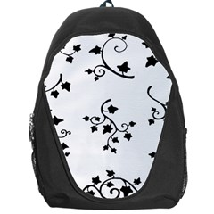 Black Leaf Tatto Backpack Bag by Mariart