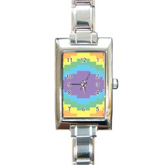 Carmigender Flags Rainbow Rectangle Italian Charm Watch by Mariart