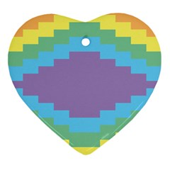Carmigender Flags Rainbow Ornament (heart) by Mariart