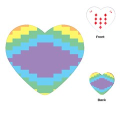 Carmigender Flags Rainbow Playing Cards (heart)  by Mariart