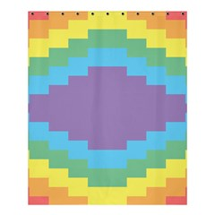 Carmigender Flags Rainbow Shower Curtain 60  X 72  (medium)  by Mariart