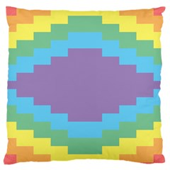 Carmigender Flags Rainbow Large Cushion Case (one Side) by Mariart