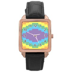Carmigender Flags Rainbow Rose Gold Leather Watch  by Mariart