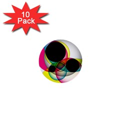 Apollonius Color Multi Circle Polkadot 1  Mini Buttons (10 Pack)  by Mariart