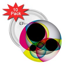 Apollonius Color Multi Circle Polkadot 2 25  Buttons (10 Pack)  by Mariart