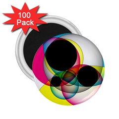 Apollonius Color Multi Circle Polkadot 2 25  Magnets (100 Pack)  by Mariart