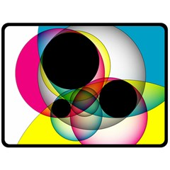 Apollonius Color Multi Circle Polkadot Fleece Blanket (large)  by Mariart