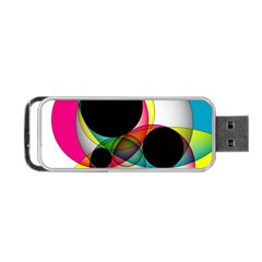 Apollonius Color Multi Circle Polkadot Portable Usb Flash (two Sides) by Mariart