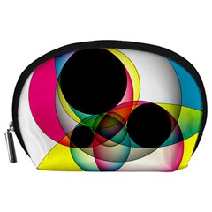 Apollonius Color Multi Circle Polkadot Accessory Pouches (large)  by Mariart