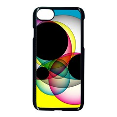 Apollonius Color Multi Circle Polkadot Apple Iphone 7 Seamless Case (black) by Mariart