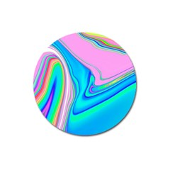 Aurora Color Rainbow Space Blue Sky Purple Yellow Green Pink Red Magnet 3  (round) by Mariart