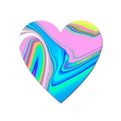 Aurora Color Rainbow Space Blue Sky Purple Yellow Green Pink Red Heart Magnet by Mariart