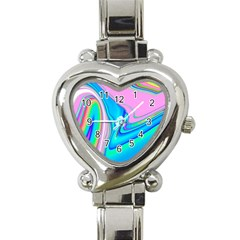 Aurora Color Rainbow Space Blue Sky Purple Yellow Green Pink Red Heart Italian Charm Watch by Mariart