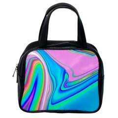 Aurora Color Rainbow Space Blue Sky Purple Yellow Green Pink Red Classic Handbags (one Side) by Mariart