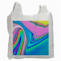Aurora Color Rainbow Space Blue Sky Purple Yellow Green Pink Red Recycle Bag (one Side) by Mariart