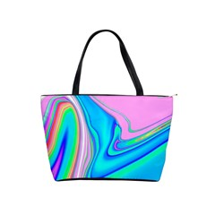 Aurora Color Rainbow Space Blue Sky Purple Yellow Green Pink Red Shoulder Handbags by Mariart