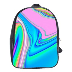 Aurora Color Rainbow Space Blue Sky Purple Yellow Green Pink Red School Bags(large)