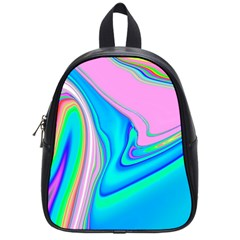 Aurora Color Rainbow Space Blue Sky Purple Yellow Green Pink Red School Bags (small)  by Mariart