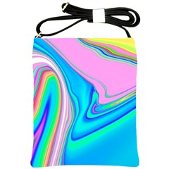 Aurora Color Rainbow Space Blue Sky Purple Yellow Green Pink Red Shoulder Sling Bags by Mariart