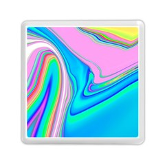 Aurora Color Rainbow Space Blue Sky Purple Yellow Green Pink Red Memory Card Reader (square)  by Mariart