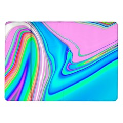 Aurora Color Rainbow Space Blue Sky Purple Yellow Green Pink Red Samsung Galaxy Tab 10 1  P7500 Flip Case by Mariart