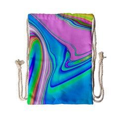 Aurora Color Rainbow Space Blue Sky Purple Yellow Green Pink Red Drawstring Bag (small) by Mariart