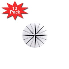 Compase Star Rose Black White 1  Mini Magnet (10 Pack)  by Mariart