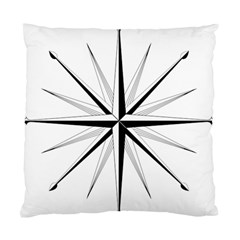Compase Star Rose Black White Standard Cushion Case (one Side) by Mariart